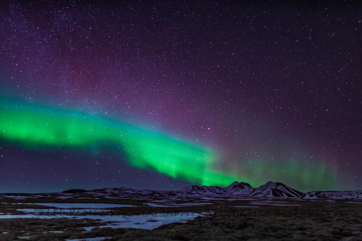 Northern Lights at Thingvellir National Park in Iceland
