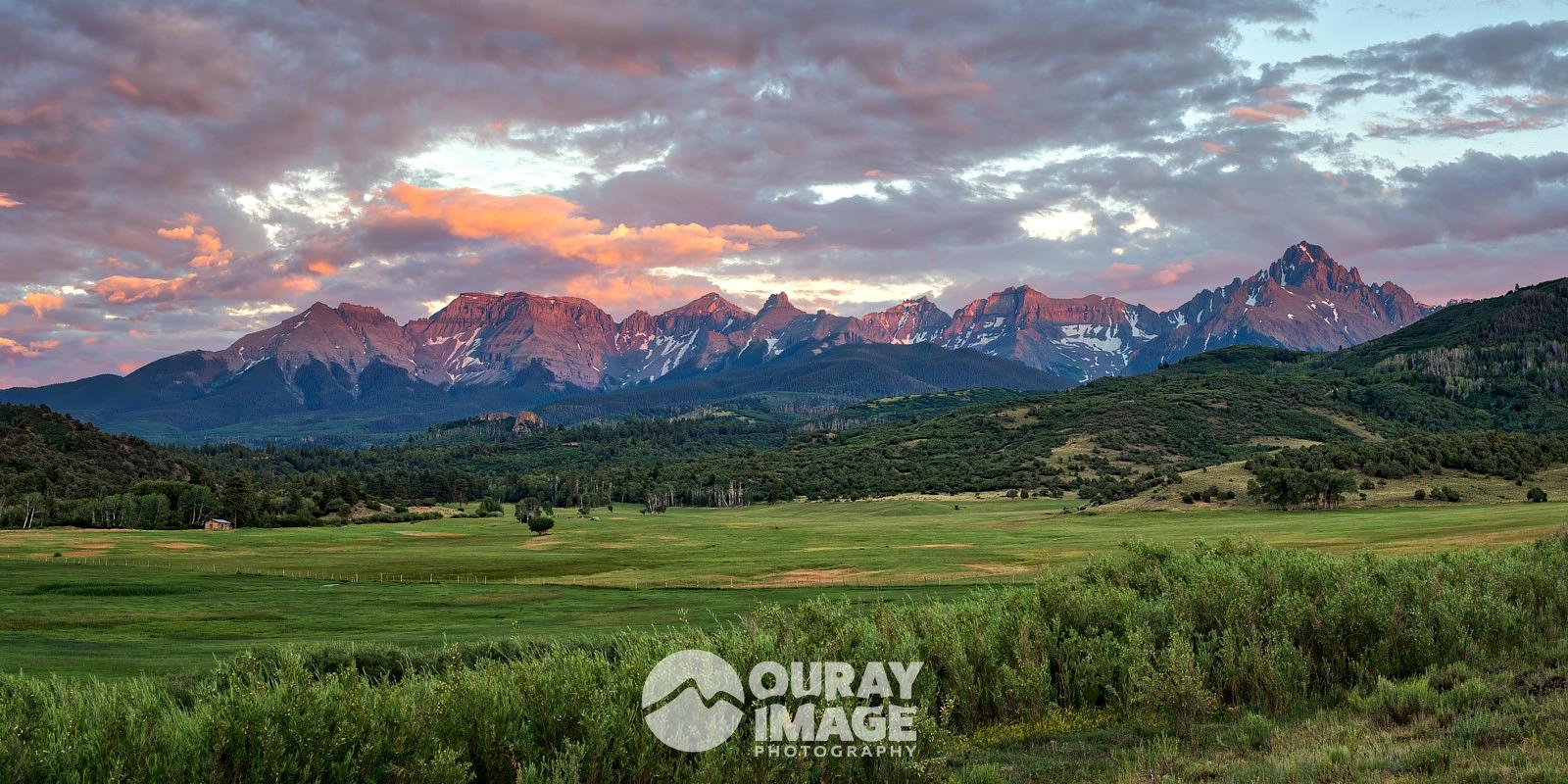 August Sunset on the Sneffels Range
