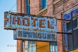 Hotel Newhouse Sign in Helper, Utah