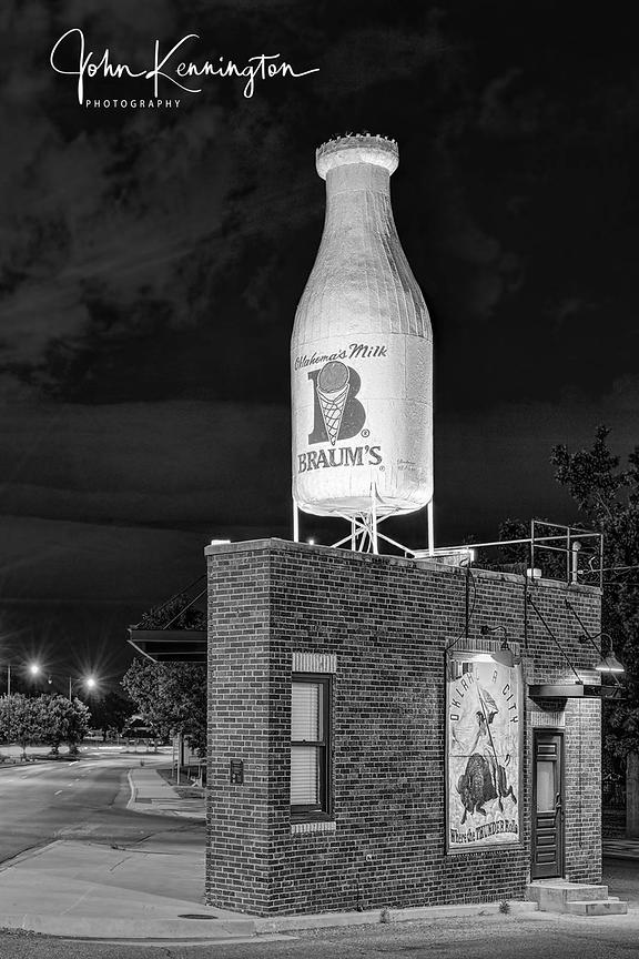 Milk Bottle Grocery (BW), Route 66, Oklahoma City