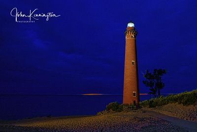 Little Sable Light No 2 at Dusk, Lake Michigan, Silver Lake, Michigan