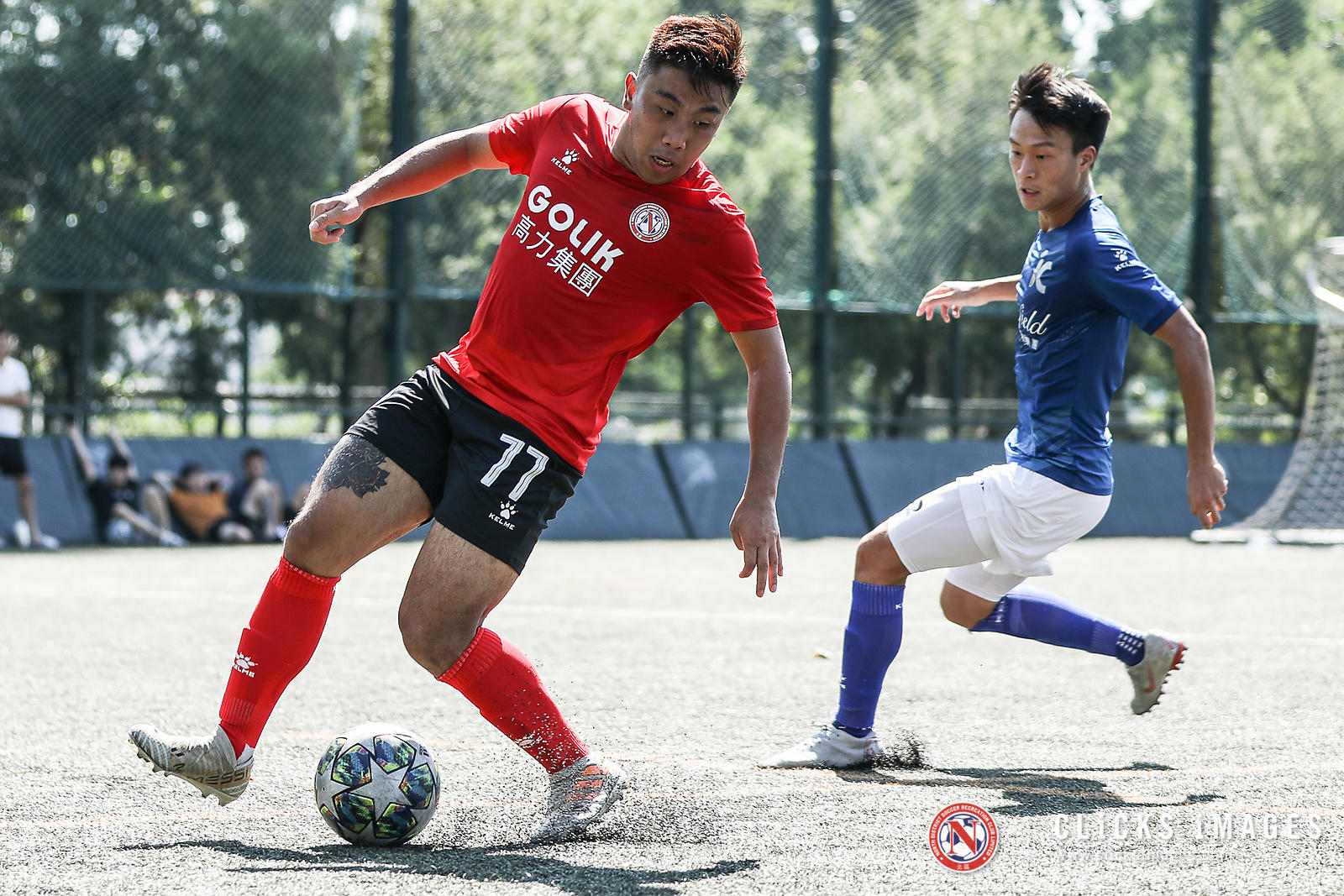 Hong Kong Football League 1st Division - ICANFIELD VS GOLIK NORTH DISTRICT on September 22, 2019. Photo by Ming So/Golik Nort...