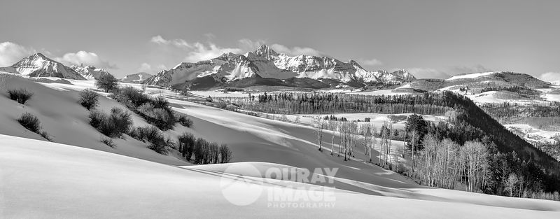 Wilson Peak Winter Panorama - Print as large as 7.8 x 3 feet