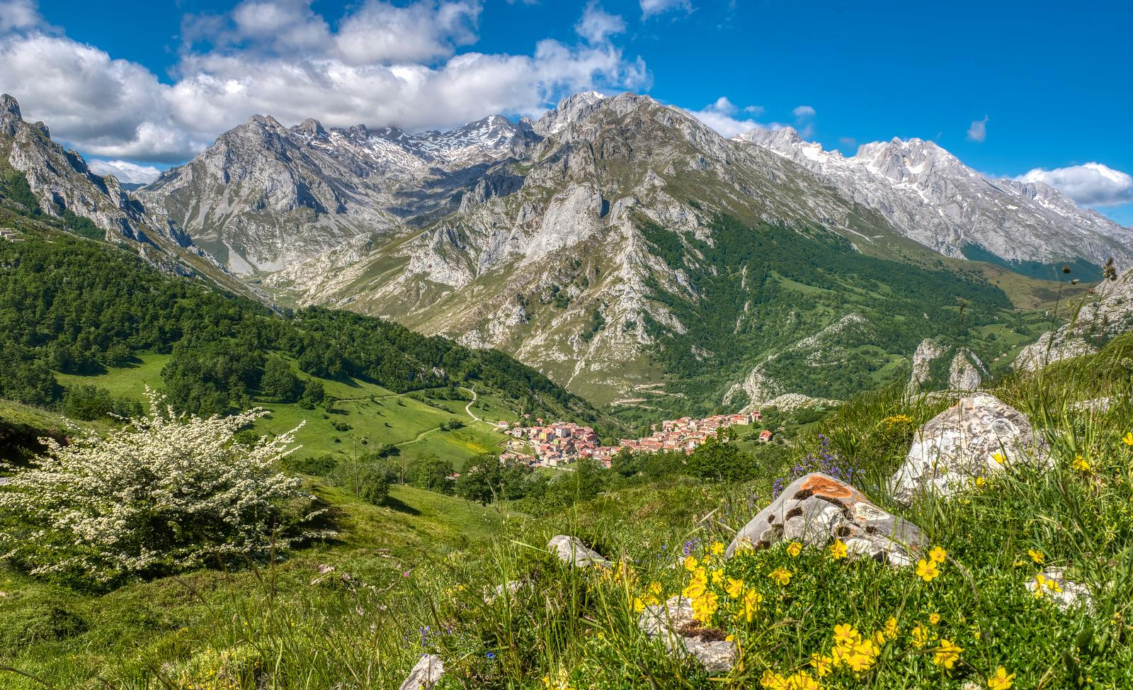 Sotres, Spain, in the Picos de Europa mountains