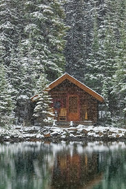 Cabin of Lake O'Hara Lodge in Yoho National Park