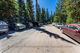 Trailhead Parking Lot for Goat Rocks Wilderness