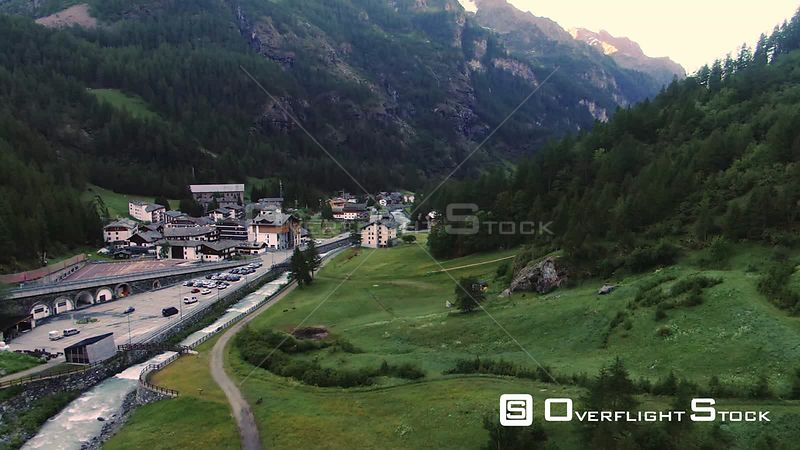 the sky resort village of Gressoney la Trinite in the Italian Alps