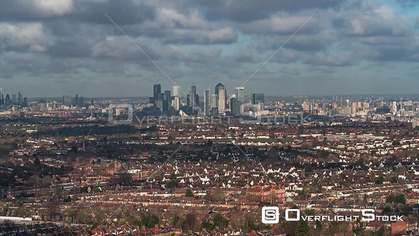 Drone Video of London from Suburbs England