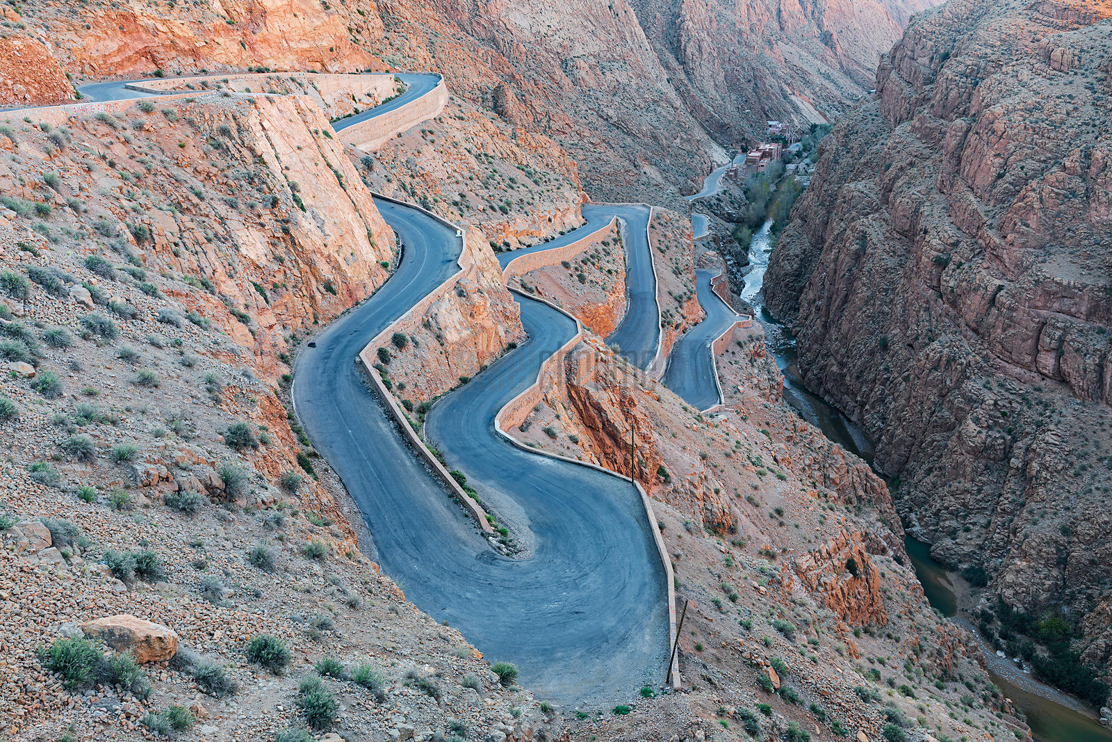 Winding Road in the Dades Valley