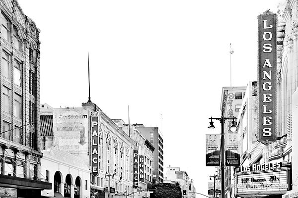 HISTORIC DOWNTOWN LOAS ANGELES CALIFORNIA BLACK AND WHITE