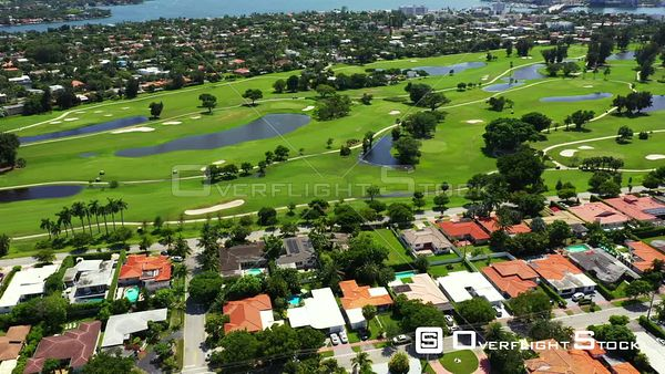 Normandy Shores Miami Beach homes on golf course landscape