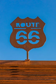 Metal Route 66 Sign in  California