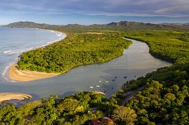 River mouth and Playa Grande