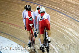 Tandem Team Sprint Qualifying. 2020 UCI Para-Cycling Track World Championships, Day 1 Morning Session