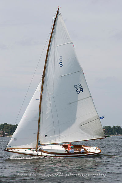 Herreshoff S Class, Larchmont, 7-20-19, first race