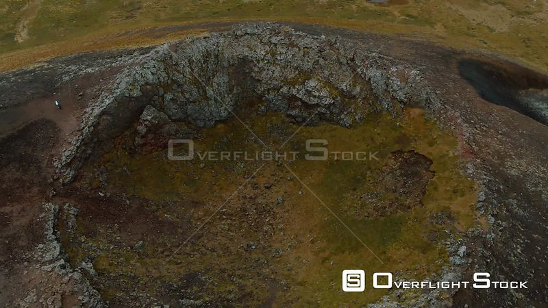 A Volcanic Crater in West Iceland