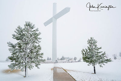 Blizzard at The Cross Of Our Lord No. 1, Groom, Texas