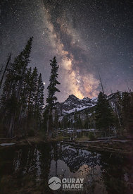 Milky Way with Pond Reflections in the Sneffels Range