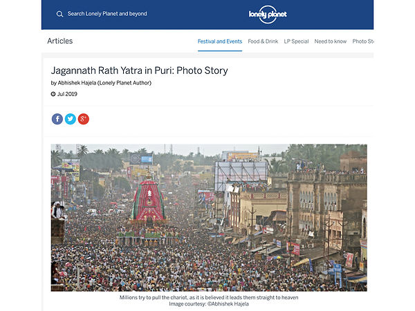 Lonely Planet; Puri Rath Yatra Photo Story; July 2019