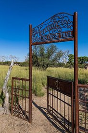 Gate at Empire Ranch in Arizona