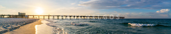 Pensacola Beach Pier Ultra High Resolution Panoramic Photo