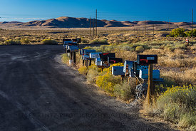 Mailboxes near Fallon, Nevada