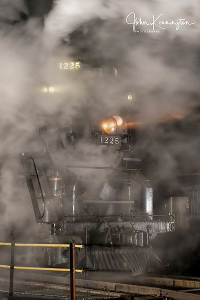 Pere Marquette #1225 on the Turntable No 2, Owosso, Michigan