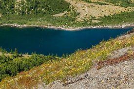 Spirit Lake in Mount St. Helens National Volcanic Monument