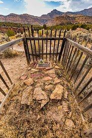 Grave in Sego Cemetery in Utah