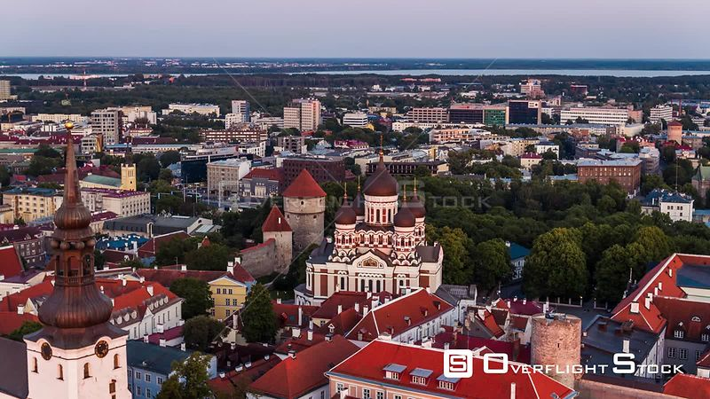 Drone Video Alexander Nevsky Cathedral Tallinn Capital of Estonia