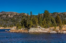 Island Lake along Beartooth Highway