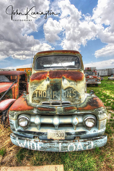 Wide Load, Ford F6, Route 66, Moriarty, New Mexico