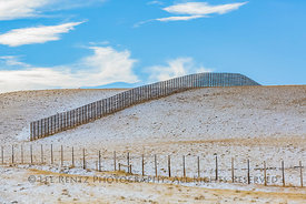 Snow Fencing along I-80 in Wyoming