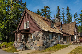 Steel Visitor Center in Crater Lake National Park in Oregon