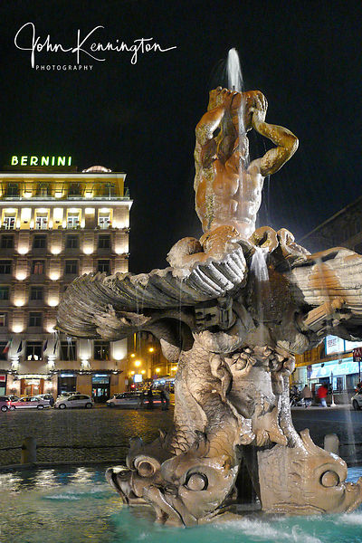 Bernini Fountain, Rome, Italy