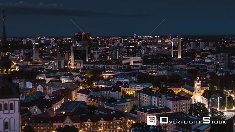 Drone Video Tallinn Capital of Estonia