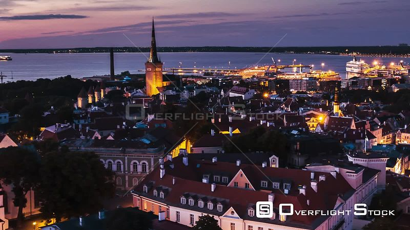 Drone Video St Mary's Cathedral Tallinn Capital of Estonia