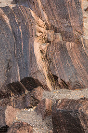 Striped Andesite in Crater Lake National Park in Oregon