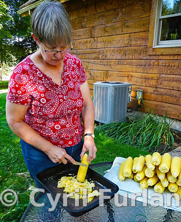 Preparing Corn for Freezing