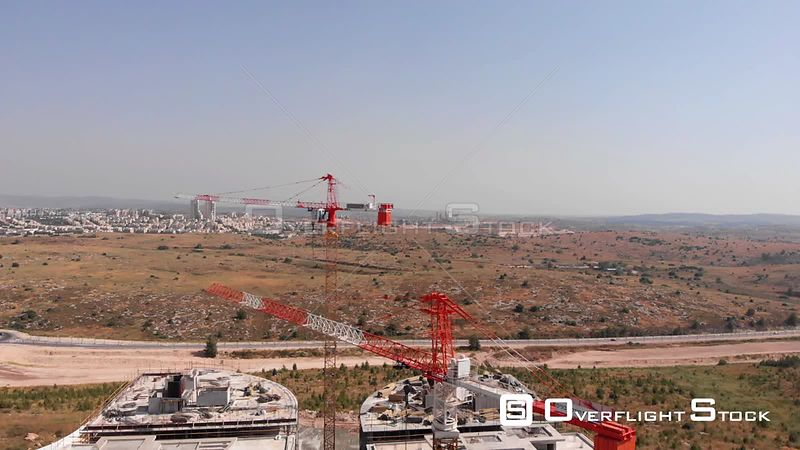 Construction Site and Modiin City Aerial View