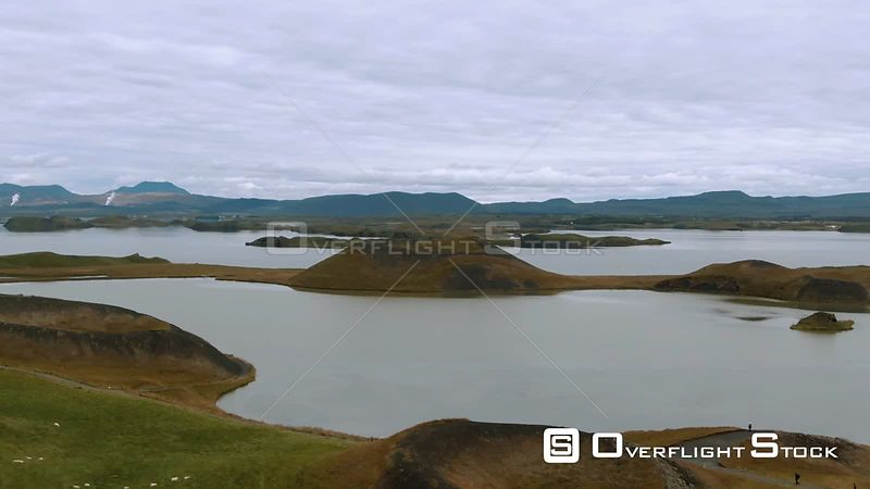 Volcanic Pseudo Craters in Lake Myvatn (north Iceland)