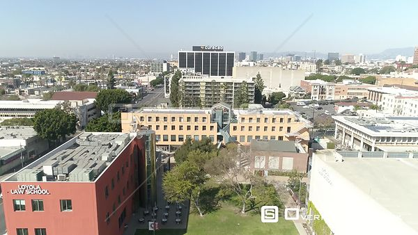 Drone Video Loyola Law School Los Campus Angeles California