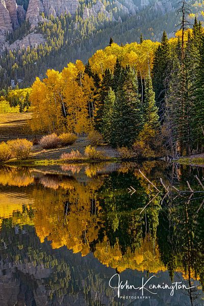 Rowdy Lake Reflection No. 4, Uncompahgre National Forest, Colorado