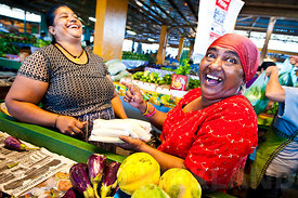 Market laughter, fiji