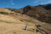 Village in the Sebapala River Valley, Lesotho