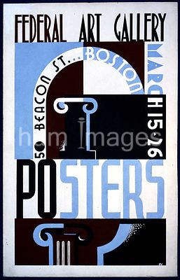 Posters, Federal Art Gallery, 50 Beacon St., Boston ca. 1938