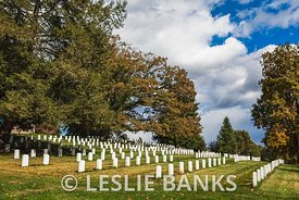 Headstones at Soldiers' National Cemetery at Gettysburg