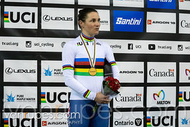 Women C5 Pursuit Podium. 2020 UCI Para-Cycling Track World Championships, Day 3 Afternoon Session, February 1, 2020