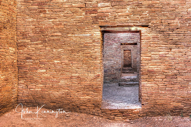 Pueblo Bonito Doors No. 2, Chaco Culture National Historical Park, New Mexico
