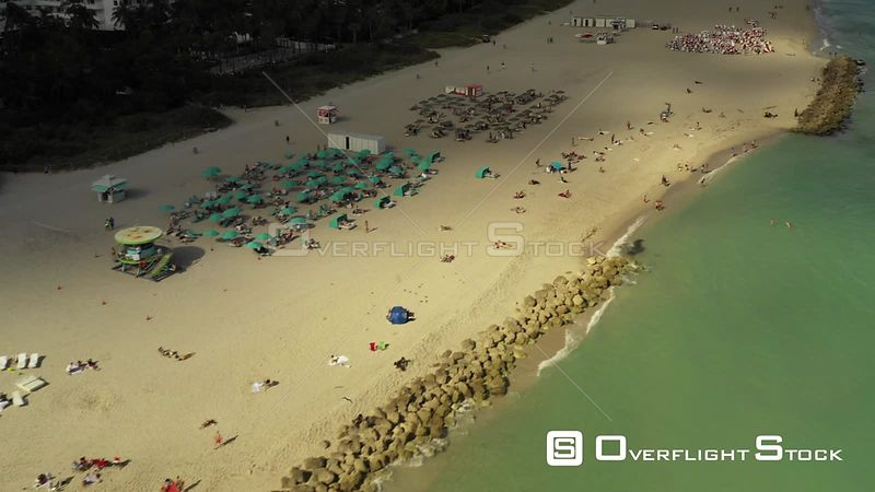 Clouds Covering the Beach Aerial Video Florida